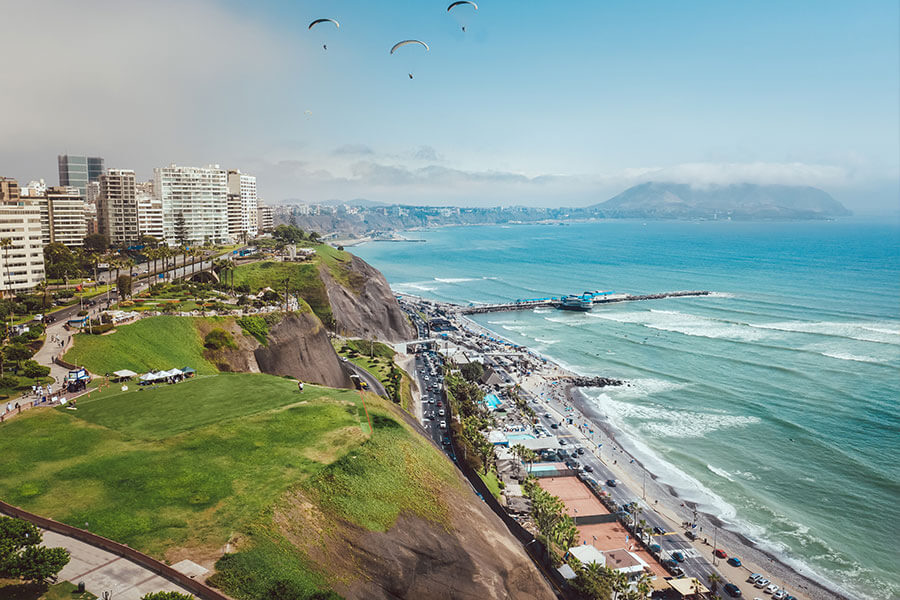 View of Lima from the ocean